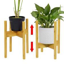 Adjustable Natural Bamboo Wooden Plant Pot Stand Garden Flower Planter Display
