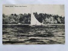 c1946 Postcard Breezin' Along Pocono Lake Preserve Vintage PA