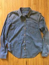 Gap Womens Denim Polka Dot Button Down Shirt. Sz Small Blue/white $69 Pre-owned