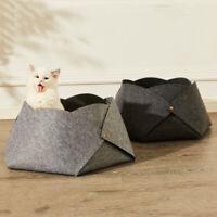 Pet Dog Cat Felt Bed Puppy Cushion Mat House Soft Warm Universal Nest Cage