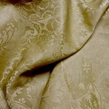 SWATCH Brunshwig Gold Linen Silk Damask RR Upholstery Fabric from France