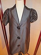 Moschino Jeans Black Silk Ruffle Women's Shirt JACKET DONNA Dress Size 2 EUR 38