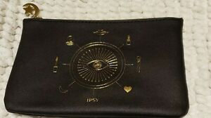 Ipsy Glam Bag October 2020 Makeup BLACK with design in gold  New BAG ONLY