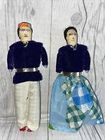 70s Vintage Navajo Native American Indian Dolls-Velvet 7 Inch Collector Pair