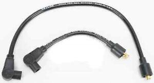 TAYLOR 8mm BLACK SPARK PLUG WIRES HARLEY SOFTAIL DYNA SPORTSTER ELECTRA SUPER FX
