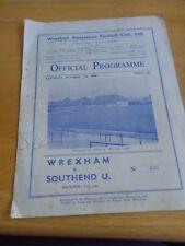 Wrexham v Southend United 17/10/59