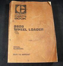 Caterpillar 980B Wheel Loader Tractor Parts Manual S/N 89P1 to 89P2167 CAT