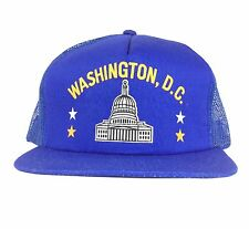 Vintage Washington DC Blue Mesh Trucker Hat Cap Snapback Sm-Med Adult Size
