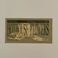 Hothouse Flowers - Town & Country Club Kentish Town June 7 1990 Concert Ticket S