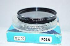 Coastar 62 mm Pola (Polarizer) Screw-In Filter w Case/Box Made in Japan (U-114)