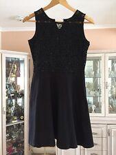 DOROTHY PERKINS LADIES BLACK SEQUIN DRESS SIZE 12