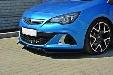 Alerón negra labio para Opel Astra J OPC labio Front alerón difusor enfoque
