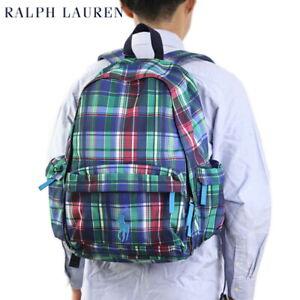 Polo Ralph Lauren Big Pony Backpack Bag - Plaid Blue -