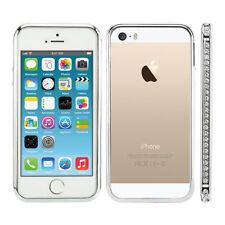 CHIC Strass ALLUMINIO BUMPER per Apple iPhone se 5 5s argento metallico CASE