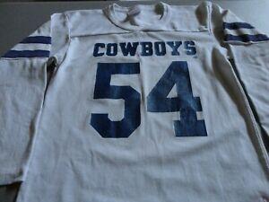 Vtg 90's Dallas Cowboys 54 Randy White Rawlings NFL Screen 50-50 Jersey Youth L