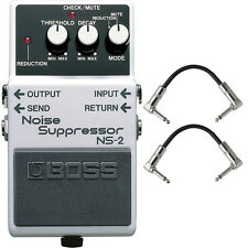 Boss NS-2 Noise Suppressor Guitar Effects Pedal Stompbox Footswitch + Cables