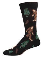 Socksmith Mens Bigfoot Sasquatch Novelty Crew Socks King Size Shoe Size 12-15
