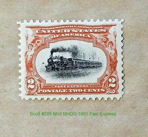 """Scott# 295 1901 Mint NHOG 2 Cent Pan Am """"Fast Express"""""""