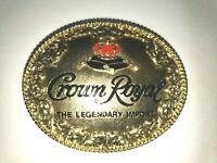 VTG House of Seagram 1994 Crown Royal The Legendary Import Belt Buckle EX Cond