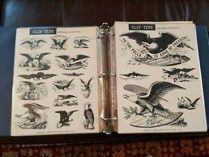 VTG CLIP ART TIPS MEAD CLIPPER CREATIVE IMAGES Binder Book HUGE 100 PAGES 1970s