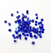 Caribbean Blue Fused Glass Dots 10g Fusing Craft Transparent Coe90 Bullseye