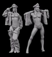 █ 1/32 65mm Resin 2 Summer Female Sexy Soldiers Unpainted BL108