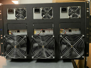 3x Bitmain Antminer S9J 14.5TH Bitcoin Miner, with Power Supply AP3W++, and Rack