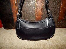 Coach Handbag Bag Purse 7593 Demi Shoulder Bag Black Leather Baguette EUC Small