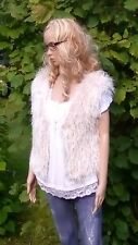 Fluffy IVORY Vest Jacket Bolero Knitted Bolero Cloak Cardigan Knitted handmade