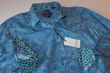 Robert Graham Shirt Coolidge Blue Classic New LS  Extra Large XL