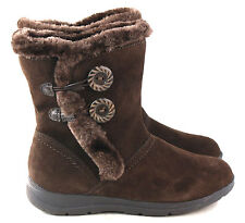 White Mountain Women's Trip Lined Suede Winter Snow Boot Dark Brown Size 8.5 M