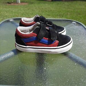 Vans OLD SKOOL Marvel Avengers Toddler Shoes Straps Size 7