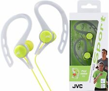JVC HA-ECX20 Vert Sports Splash-Proof In-ear Oreille-Clip Casque/Tout Neuf
