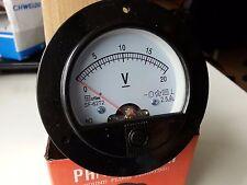 Round Analog Volt Panel Meter DC 20V Car Ship Battery Voltmeters 62T2 65C5