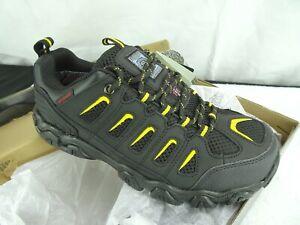 Skechers Work Men's Blais Steel-Toe waterproof Hiking Shoe black / yellow size 8