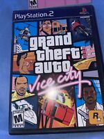 PS2 Grand Theft Auto Vice City Playstation 2 M Game Complete w/ Manual, Poster!