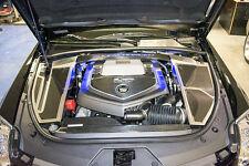 123020-B-RD 06-15 Cadillac CTS-V Engine Shroud Brushed Carbon Fiber Illuminated