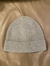 J Crew 100% cashmere hat/beanie, Grey, one size. NWT