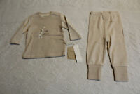 Cotton Boy's Long Sleeve Giraffe I Am Grown Pajama Set SV3 Brown Size 6-9M NWT
