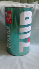 VINTAGE 7-Up Wet & Wild Metal TRASH CAN, Made in USA - J.L. Clark, GREEN N COLOR
