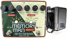 Used Electro-Harmonix EHX Deluxe Memory Man Tap Tempo 550 Analog Delay Pedal!
