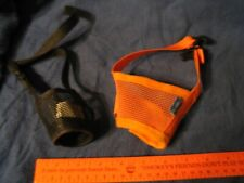 Small Dog Muzzle Lot of 2 Black / Orange L00k exc cond