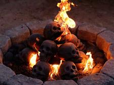 Fire Brick Ceramic Skull - Aged Gray - Pack of 10