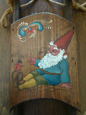 Gnome And Ladybug - Hand Painted Wooden Sled