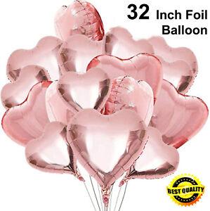 New HEART SHAPE 32 INCH Foil Balloon Love Valentine's Celebration Birthday Part