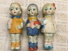3 Bisque Dolls From 1950s