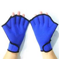 1 Pair Swimming Gloves Aquatic Fitness Water Resistance Aqua Fit Paddle Training