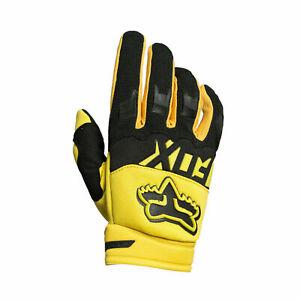 Fox 2020 Racing Dirtpaw Gloves Motocross Dirtbike Mens Riding Gear Yellow