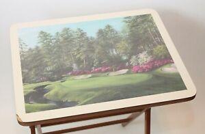 Scheibe Vintage Mid-Century Modern Masters Augusta #13 Azalea Folding Tray Table