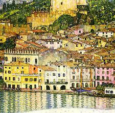 "Gustav KLIMT:: Malcesine, LAGO GARDA, Italia:: 24 ""Canvas fine art print"
